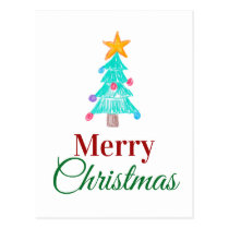 Personalized Merry Christmas Children's Picture Postcard