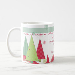 Personalized Merry Christmas Grandparents Photo Mu Coffee Mug