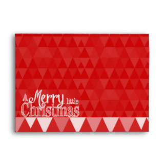 Personalized Merry Little Christmas Red Abstract Envelope