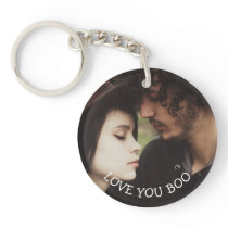 Personalized Message and Photo Couple's Romantic Keychain