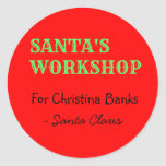 Personalized Message from Santa Claus Classic Round Sticker