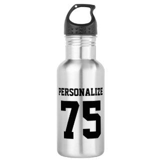 Personalized metal water bottles for sports teams 18oz water bottle