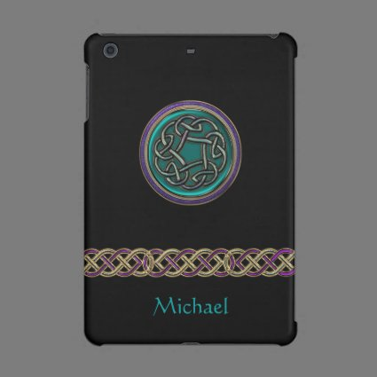 Personalized Metallic Celtic Knot iPad Case