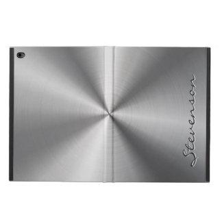Personalized Metallic Radial Stainless Steel Look Powis iPad Air 2 Case