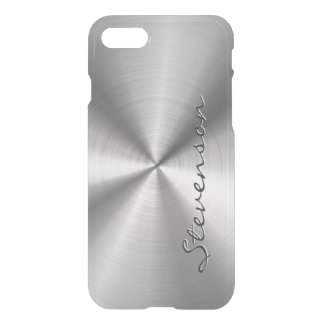 Personalized Metallic Radial Stainless Steel Look iPhone 7 Case