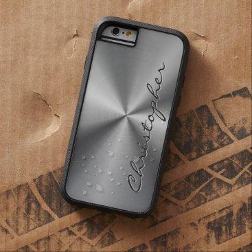 Personalized Metallic Radial Texture Tough Xtreme iPhone 6 Case