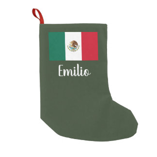 Personalized Mexican flag Christmas stocking