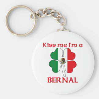 Personalized Mexican Kiss Me I'm Bernal Keychains