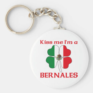 Personalized Mexican Kiss Me I'm Bernales Key Chain