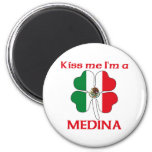 Personalized Mexican Kiss Me I'm Medina Magnets
