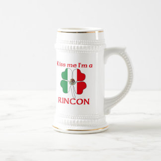 Personalized Mexican Kiss Me I'm Rincon 18 Oz Beer Stein