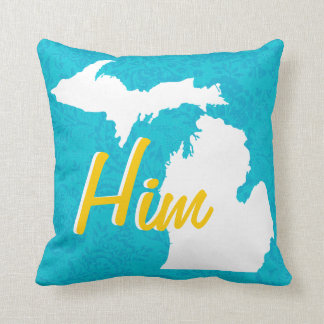 Personalized Michigan State Or Any Color Pillow