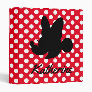Personalized Mickey & Minnie Silhouette 3 Ring Binder