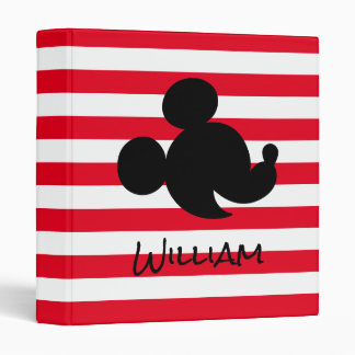 Personalized Mickey & Minnie Silhouette Binder
