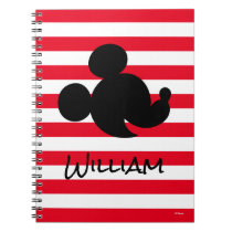 Personalized Mickey & Minnie Silhouette Notebook