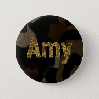 Personalized Military Camouflage Font Amy Button