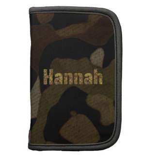 Personalized Military Camouflage Font Hannah Folio Planners