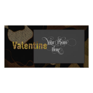 Personalized Military Camouflage Font Valentine Card