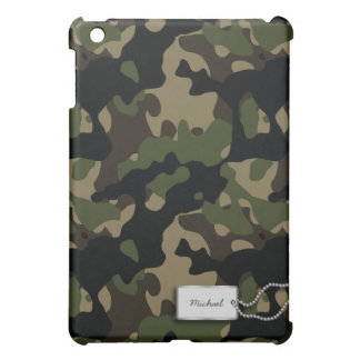 Personalized Military Camouflage iPad Mini Cover