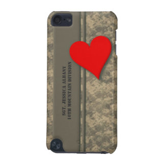 Personalized Military Camouflage with Heart iPod Touch (5th Generation) Cases