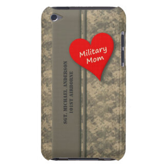 Personalized Military Mom Camouflage Barely There iPod Covers