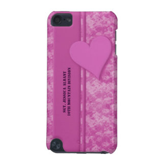 Personalized Military Pink Camouflage with Heart iPod Touch 5G Cover