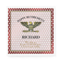 Personalized Military Retirement Party Napkin