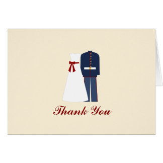 Personalized Military Wedding Thank You Notes