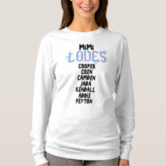 PERSONALIZED MiMi LOVES her grandkids T-Shirt