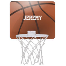 Personalized Mini Basketball Hoop at Zazzle