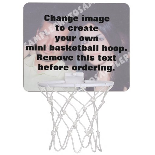 Personalized mini basketball hoop make your own mini for How to build a basketball goal