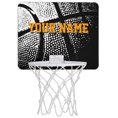 Personalized mini basketball hoop with custom text