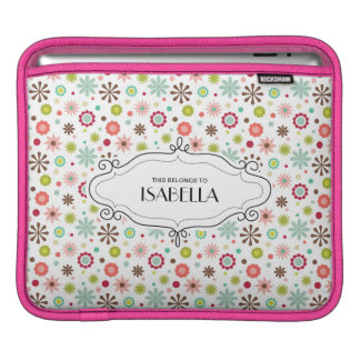 Personalized MIni Floral Rickshaw Sleeve for iPads