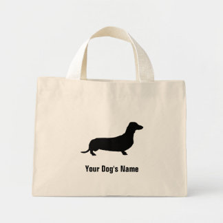 Personalized Miniature Dachshund ミニチュア・ダックスフンド Mini Tote Bag