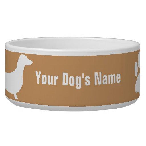 Personalized Miniature Dachshund ミニチュア・ダックスフンド Dog Water Bowl