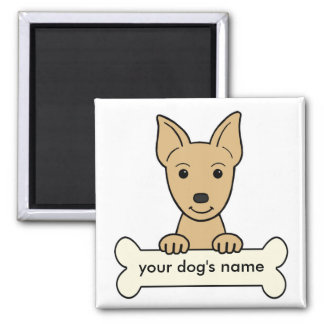 Personalized Miniature Pinscher 2 Inch Square Magnet