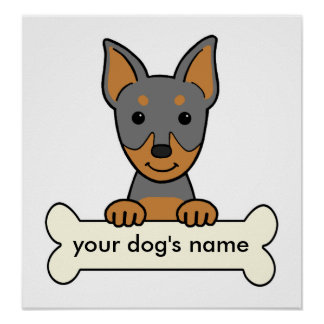 Personalized Miniature Pinscher Poster