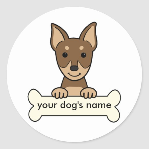 Personalized Miniature Pinscher Stickers