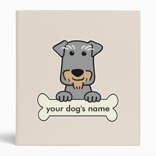 Personalized Miniature Schnauzer Binder