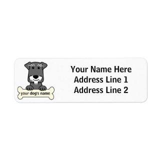 Personalized Miniature Schnauzer Label