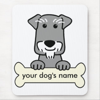 Personalized Miniature Schnauzer Mouse Pad