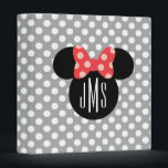 """Personalized Minnie Polka Dot Head Silhouette Binder<br><div class=""""desc"""">Personalize these striped Disney flip flops by adding your name or monogram.</div>"""