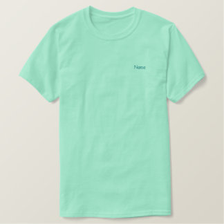 Personalized Mint Green Embroidered T-Shirt