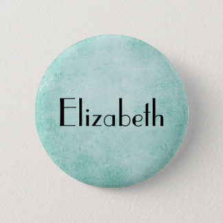 Personalized Mint Green Vintage paper texture Button