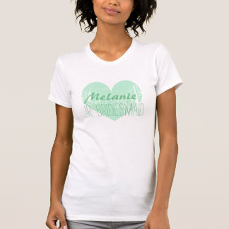 Personalized mint jr. bridesmaid t shirt for girl