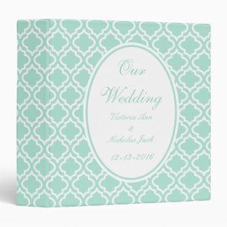 Personalized Mint Wedding Scrapbook Gift 3 Ring Binder