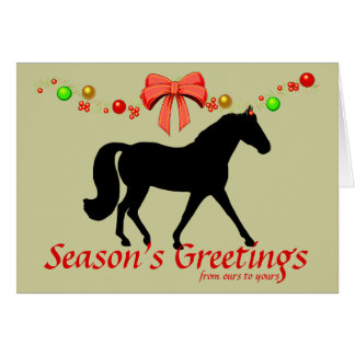 Personalized Missouri Fox Trotter Christmas Cards