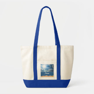 Personalized Mixed Media Beach Bag