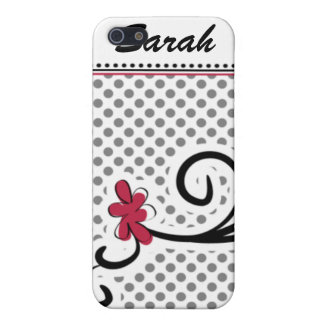 personalized mod floral pink 4 casing cover for iPhone SE/5/5s