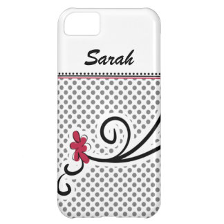 personalized mod floral pink cover for iPhone 5C
